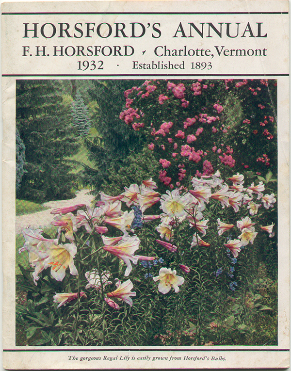 Horsfords annual catalog in color from 1932