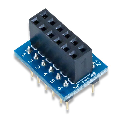 Pmod DIP: DIP to 12-pin Pmod Adapter product image.