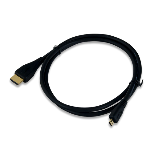 HDMI A to Micro D cable product image.