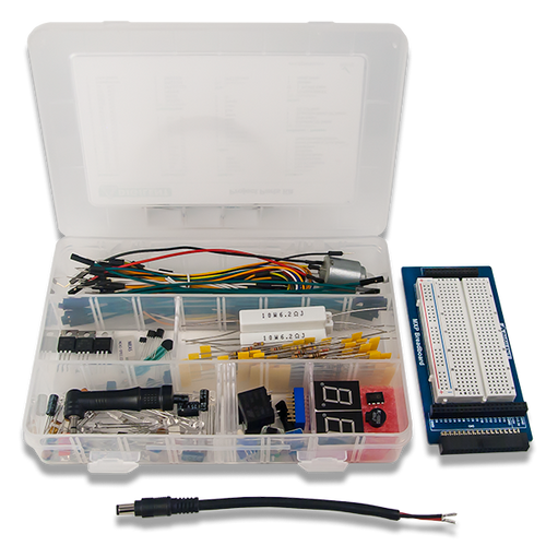 myRIO Starter Kit, box contents. Digilent retains the right to change a part or product to a similar item to meet lead time, cost, and MOQ requirements.