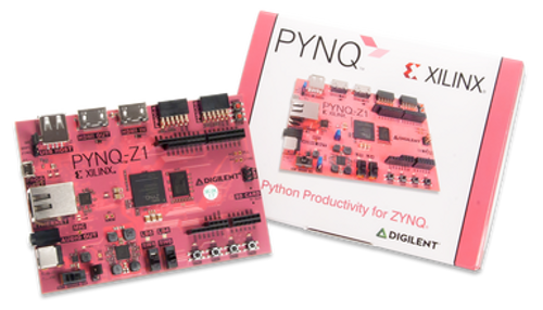 Product image of the PYNQ-Z1 Zynq 7000 with packaging.