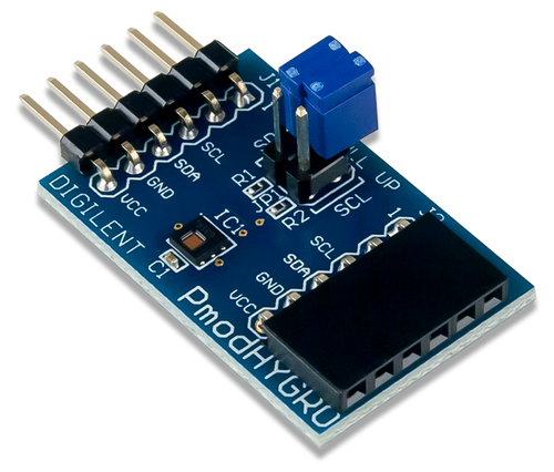 Pmod HYGRO: Digital Humidity and Temperature Sensor product image.