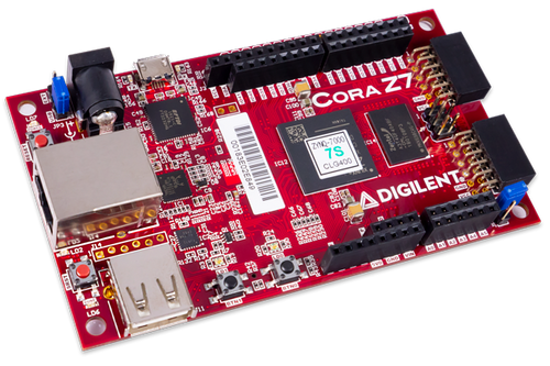Cora Z7: Zynq-7000 ARM/FPGA SoC Development board glamour shot.