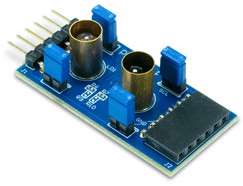 Product image of the Pmod ToF: Time of Flight Sensor at and angle.