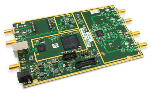 Product image of the Ettus USRP B210 displayed at an angle.