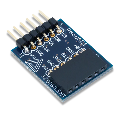 Pmod AD1: Two 12-bit A/D Inputs product image.