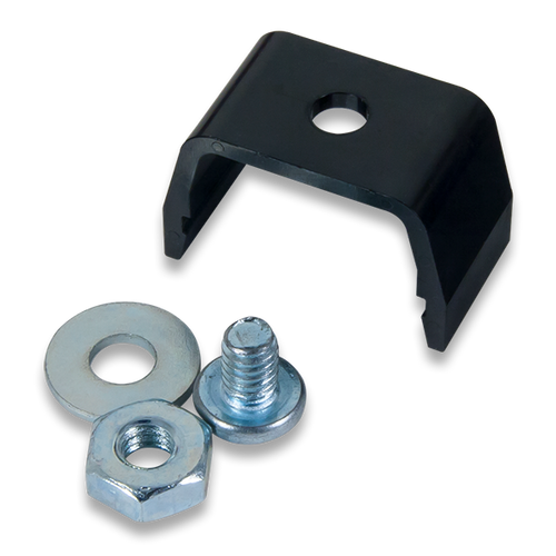 Pmod Clip: Mechanical Mount for Pmod boards product image with the included mounting hardware.