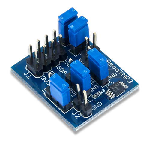 Pmod TMP3: Digital Temperature Sensor product image.