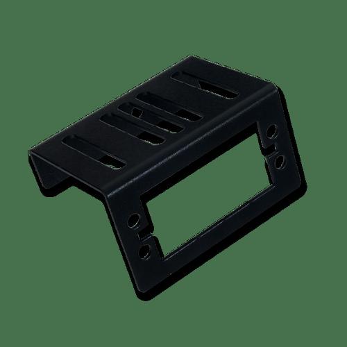 Servo Mounting Bracket: Black Brushed Metal product image. Ships in pairs.