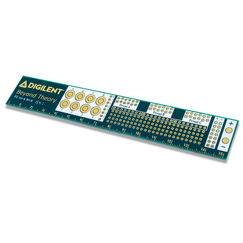 Product image of the Digilent PCB Ruler.