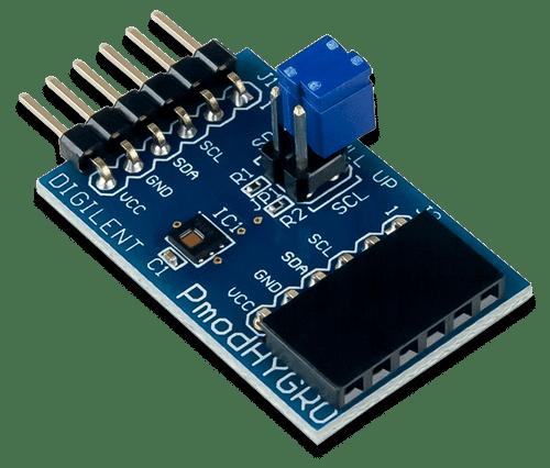 Pmod HYGRO: Digital Humidity and Temperature Sensor product image.