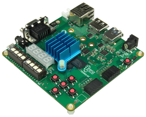 Angled view product image of the Trenz Development Board.