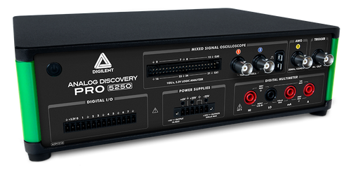 Product image of the Analog Discovery Pro ADP5250 displayed at an angle.