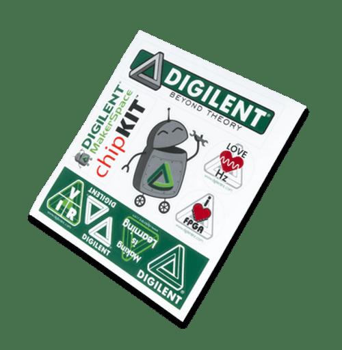 Digilent Sticker Sheet product image.