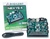 Product image of the Nexys 4 Artix-7 FPGA Trainer Board displayed next to its hardshell plastic case and included USB cable.