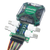 Product image of the BNC Adapter for Analog Discovery plugged into the Analog Discovery 2 with a ribbon cable attached. Analog Discovery 2 and ribbon cable are not included.