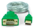 Front view product image of the connector ends on the USB to Serial Adapter Cable.