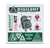 Top view of the Digilent Sticker sheet product.