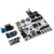 Product image of the Arty Z7 Pmod pack displaying the ease of plugging the included Pmods into the Arty Z7 Pmod ports. Includes the Pmod NAV, Pmod SSR, Pmod RTCC, Pmod TPH2, and the Pmod ENC. Arty Z7 sold separately.