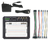Top view product image of the Analog Discovery Studio contents.