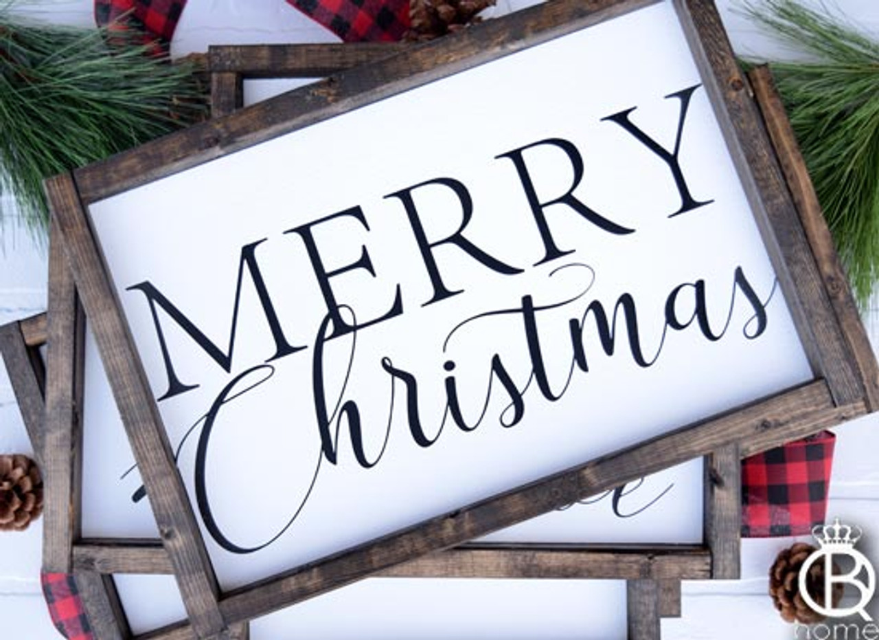 Christmas Wood Signs.Merry Christmas Wood Sign
