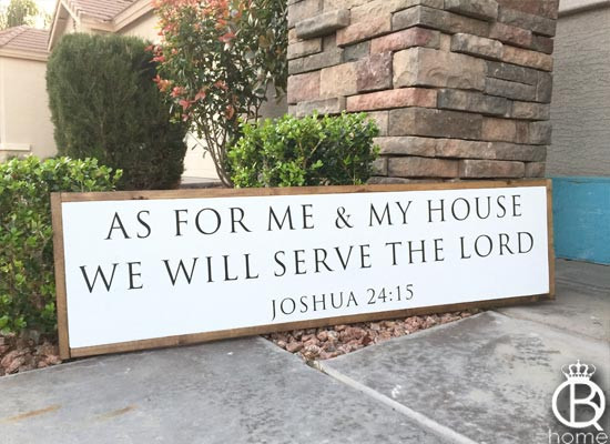 As For Me And My House We Will Serve The Lord Wood Sign Queenbhome