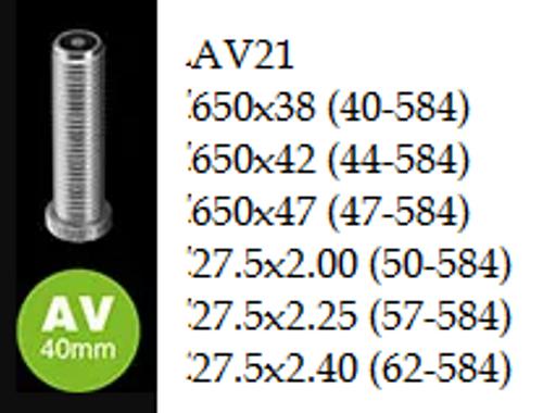 """Schwalbe Inner Tube - 27.5"""" - AV21"""