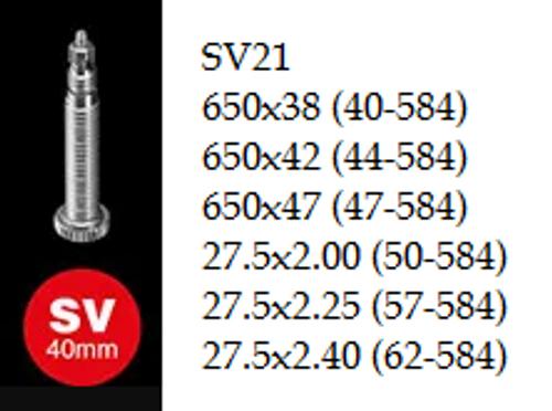 """Schwalbe Inner Tube - 27.5"""" - SV21"""