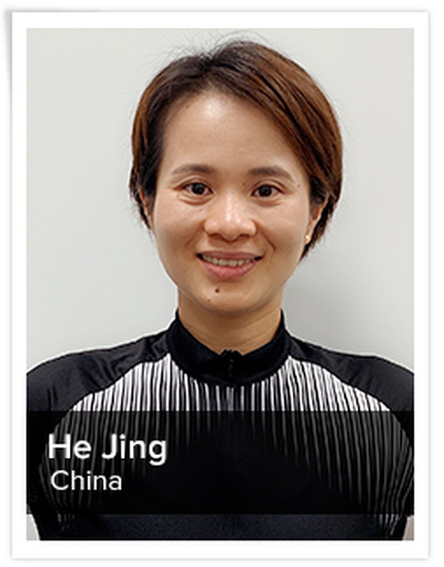 Jing He, Spinning® Master Instructor | China