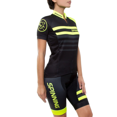 Spinning® Vega Womens Short Sleeve Cycling Jersey Yellow