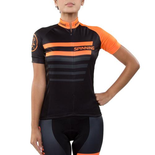 Spinning® Vega Women's Short Sleeve Cycling Jersey Orange