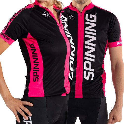 Spinning® Team Short Sleeve Unisex Cycling Jersey - Pink