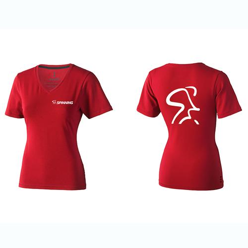 Spinning® Womens V Neck T-Shirt