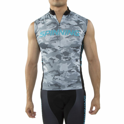 Spinning® Hercules UNISEX Sleeveless Cycling Jersey Blue