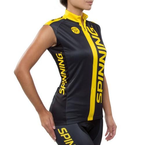 Spinning® Team Unisex Sleeveless Cycling Jersey - Yellow