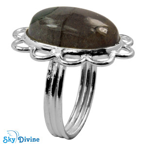 Sterling Silver Labradorite Ring SDR2106 SkyDivine Jewellery RingSize 5.5 US