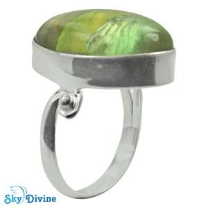 925 Sterling Silver flourite Ring SDR2115 SkyDivine Jewellery RingSize 8.5 US