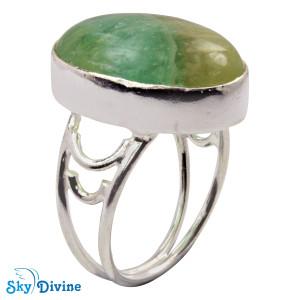 925 Sterling Silver flourite Ring SDR2117 SkyDivine Jewellery RingSize 7 US