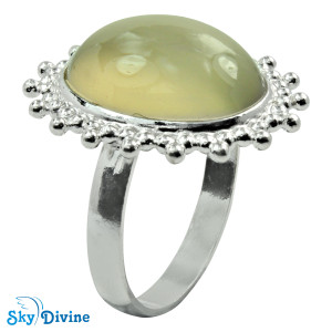 Sterling Silver Chalcedony Ring SDR2124 SkyDivine Jewellery RingSize 7.5 US