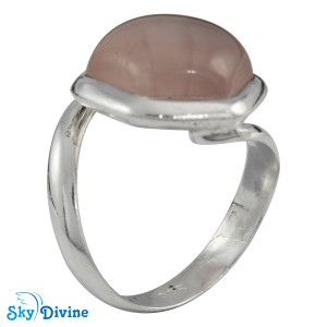 Sterling Silver Rose Quartz Ring SDR2126 SkyDivine Jewellery RingSize 6 US