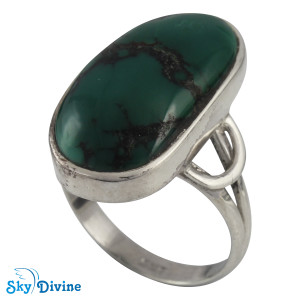 925 Sterling Silver turquoise Ring SDR2127 SkyDivine Jewellery RingSize 8.5 US