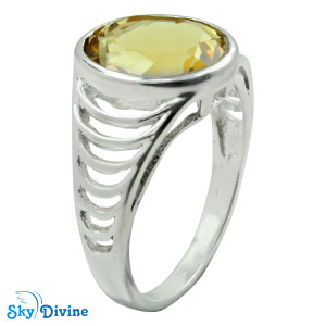 925 Sterling Silver Citrine Ring SDR2149 SkyDivine Jewellery RingSize 6 US
