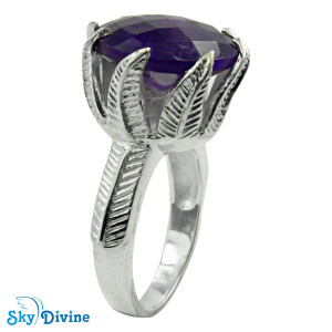 Sterling Silver amethyst Ring SDR2150 SkyDivine Jewellery RingSize 7.5 US