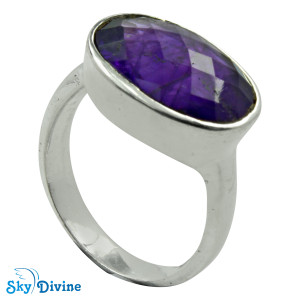 925 Sterling Silver amethyst Ring SDR2153 SkyDivine Jewellery RingSize 8 US
