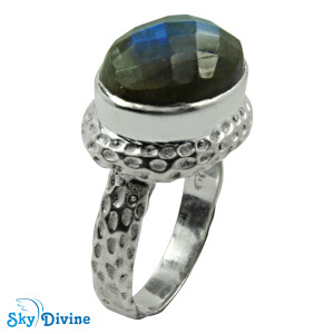 Sterling Silver Labradorite Ring SDR2162 SkyDivine Jewellery RingSize 10 US