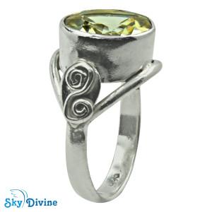 Sterling Silver lemon topaz Ring SDR2171 SkyDivine Jewellery RingSize 8 US
