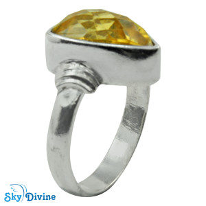 925 Sterling Silver Citrine Ring SDR2172 SkyDivine Jewellery RingSize 8.5 US