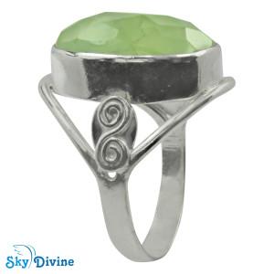 925 Sterling Silver prehnite Ring SDR2174 SkyDivine Jewellery RingSize 9 US