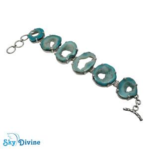 Sterling Silver Druzy Bracelet SDABR01 SkyDivine Jewellery