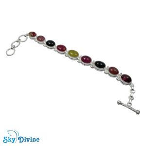Sterling Silver tourmaline Bracelet SDBR2101 SkyDivine Jewellery